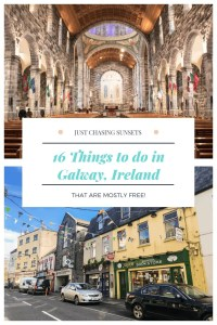 There are plenty of things to do in Galway, Ireland that suit any budget and any type of weather! I hope you spend some time falling in love with Galway!