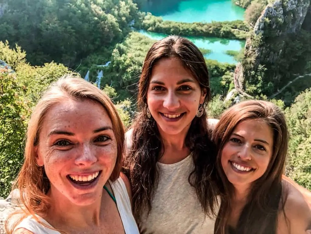 New Hostel Friends and I hiking in Plitvice National Park, Croatia