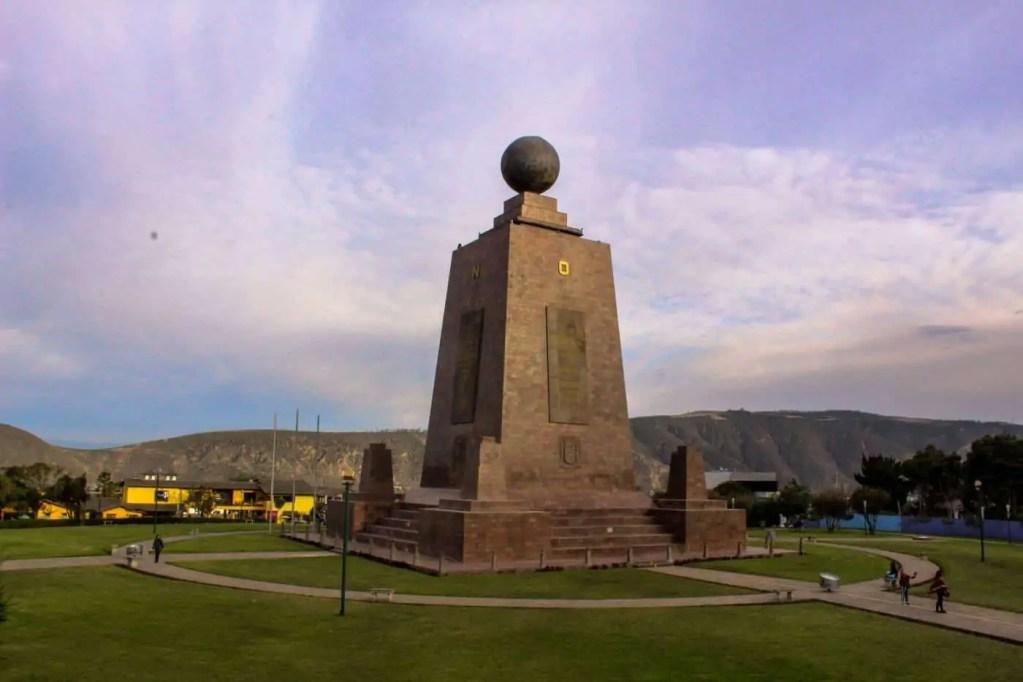 Monument at Mitad del Mundo