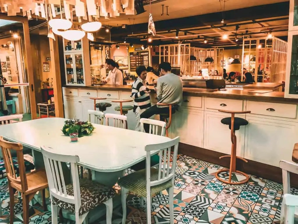 The cafe of Ocho y Medio