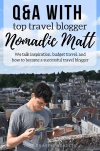 Q&A with top travel blogger nomadic matt