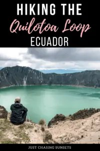 Hiking the quilotoa loop - ecuador