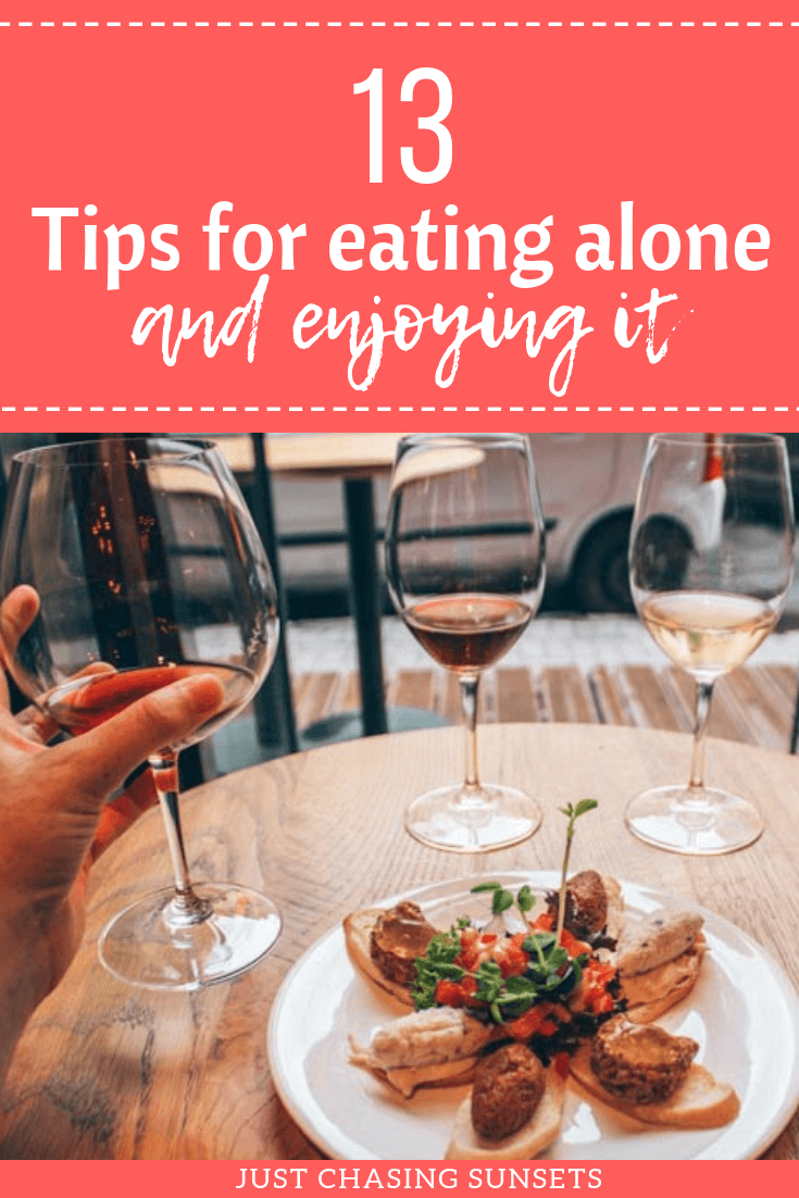 13 tips for eating alone