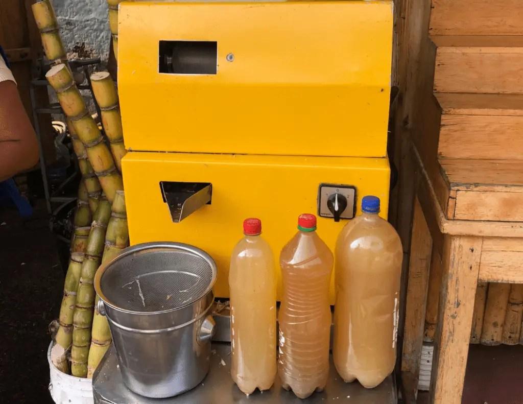 freshly pressed sugar cane juice
