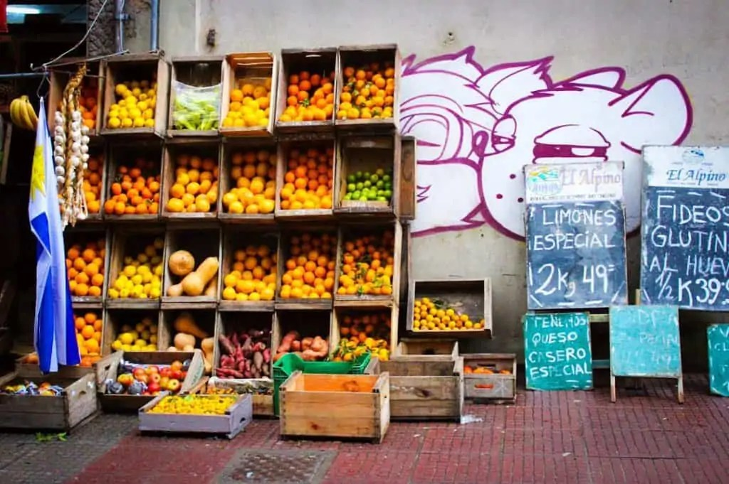 Uruguay fruit market photo c/o Sara