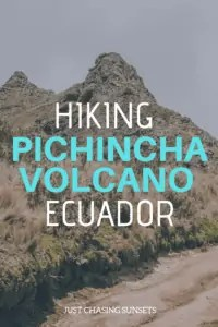 hiking the pichincha volcano in ecuador