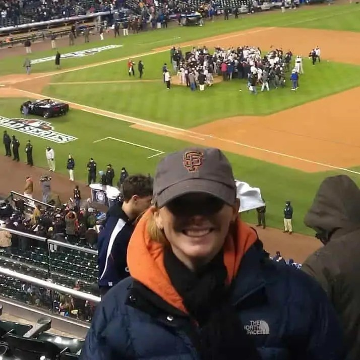 me at the Giants vs Tigers World Series 2012 game