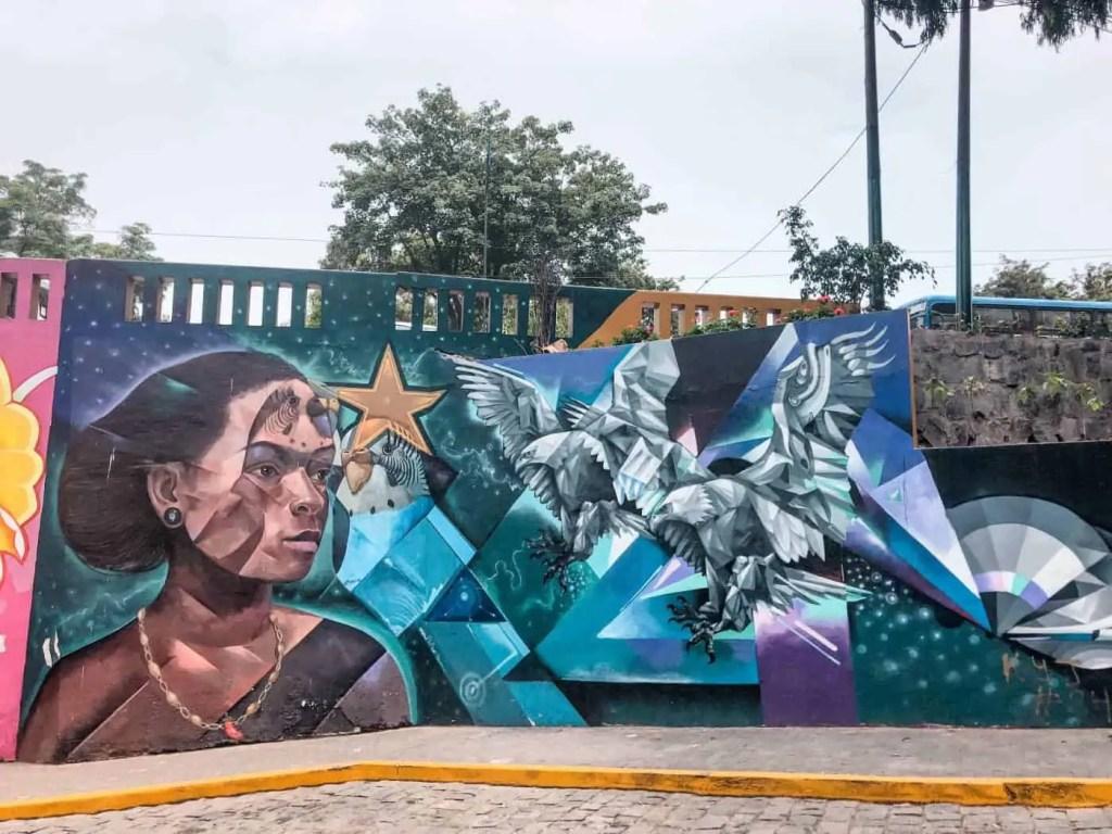Street art in Barranco in Lima Peru