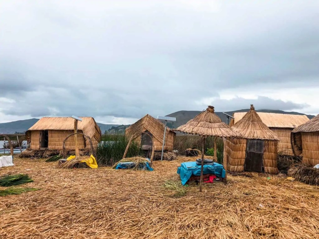 The Floating Islands on Lake Titicaca