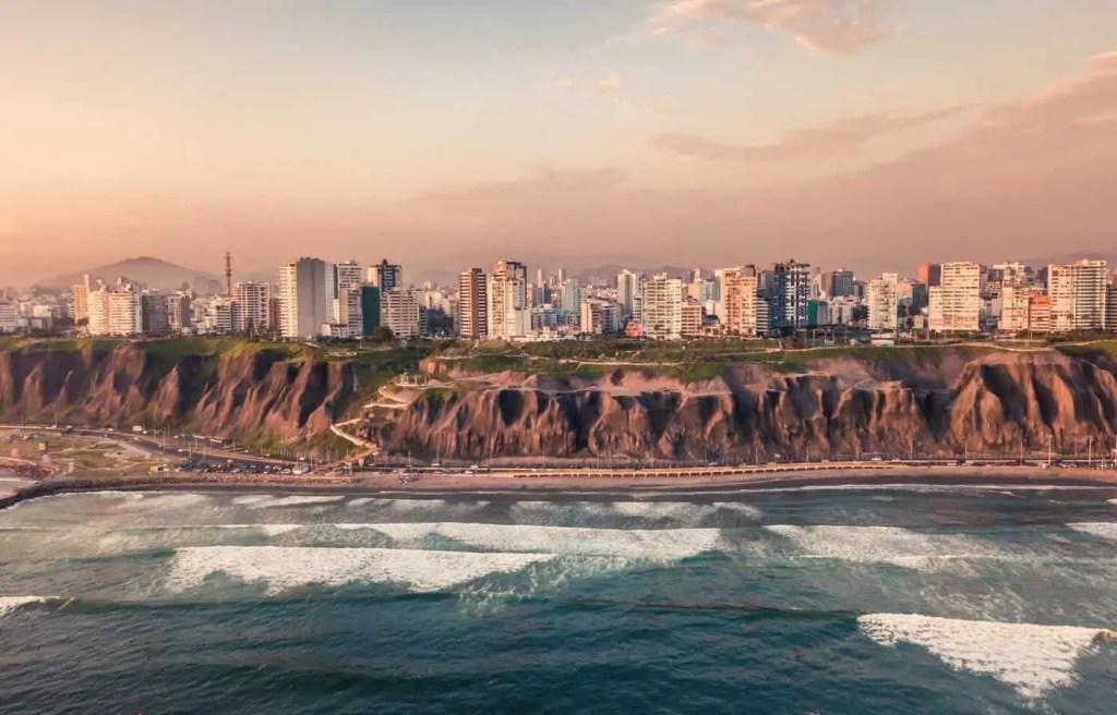 A birds eye view of Lima, Peru