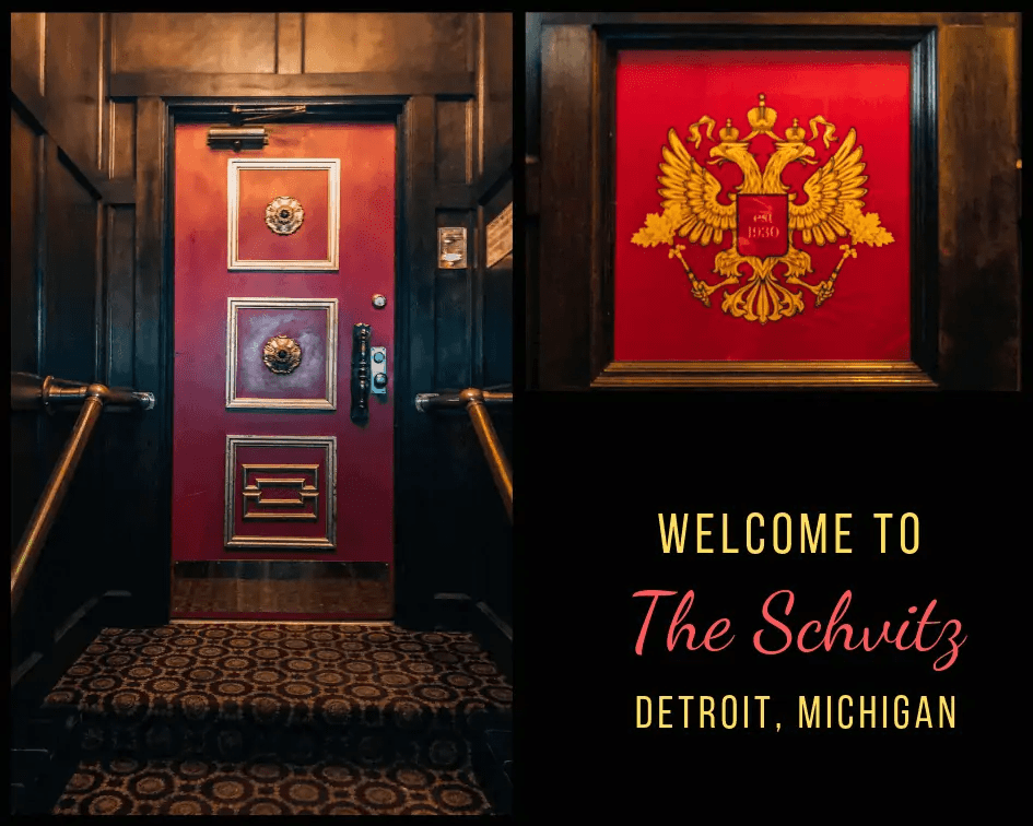 The entrance of the Shvitz in Detroit
