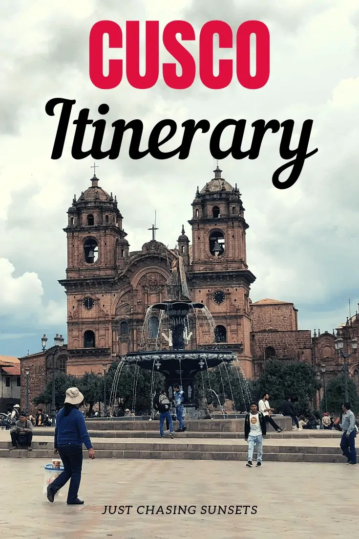 Cusco Itinerary