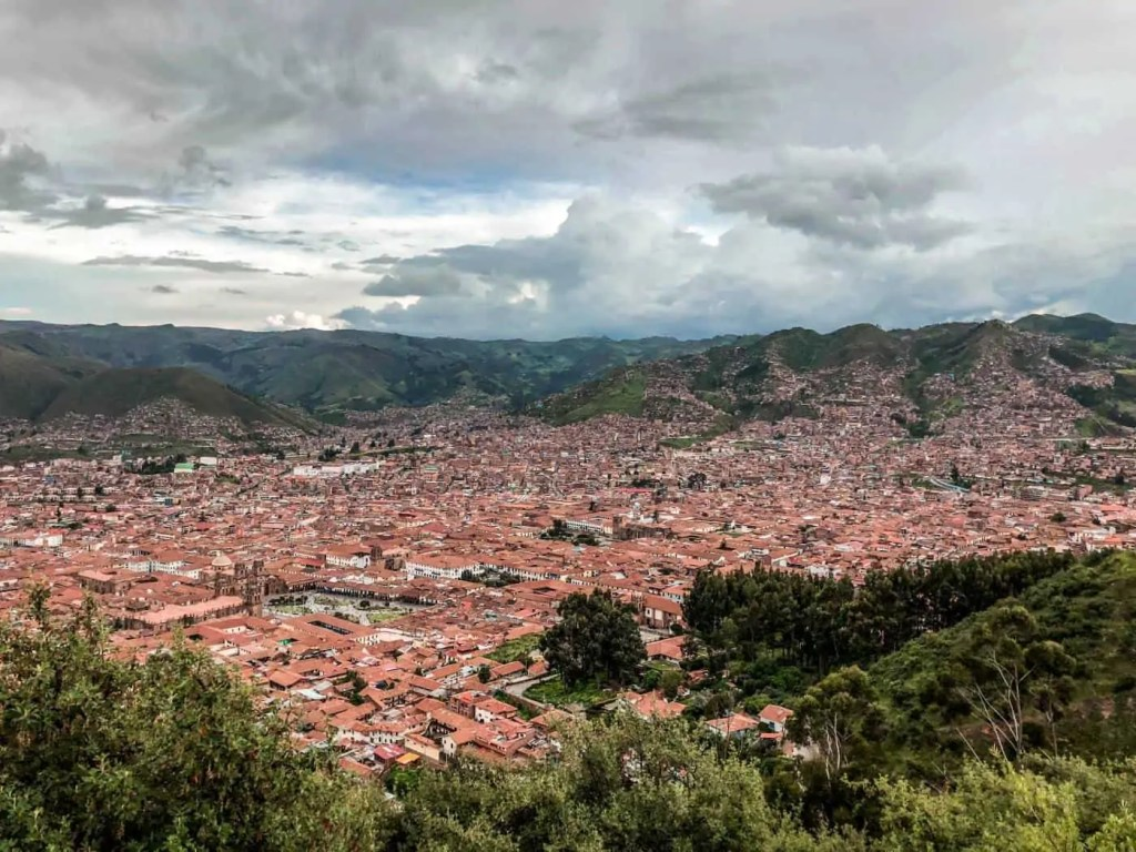 View of Cusco city from Saqsaywaman
