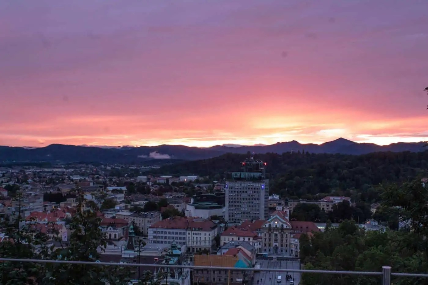 Sunset from Ljubljana Grad