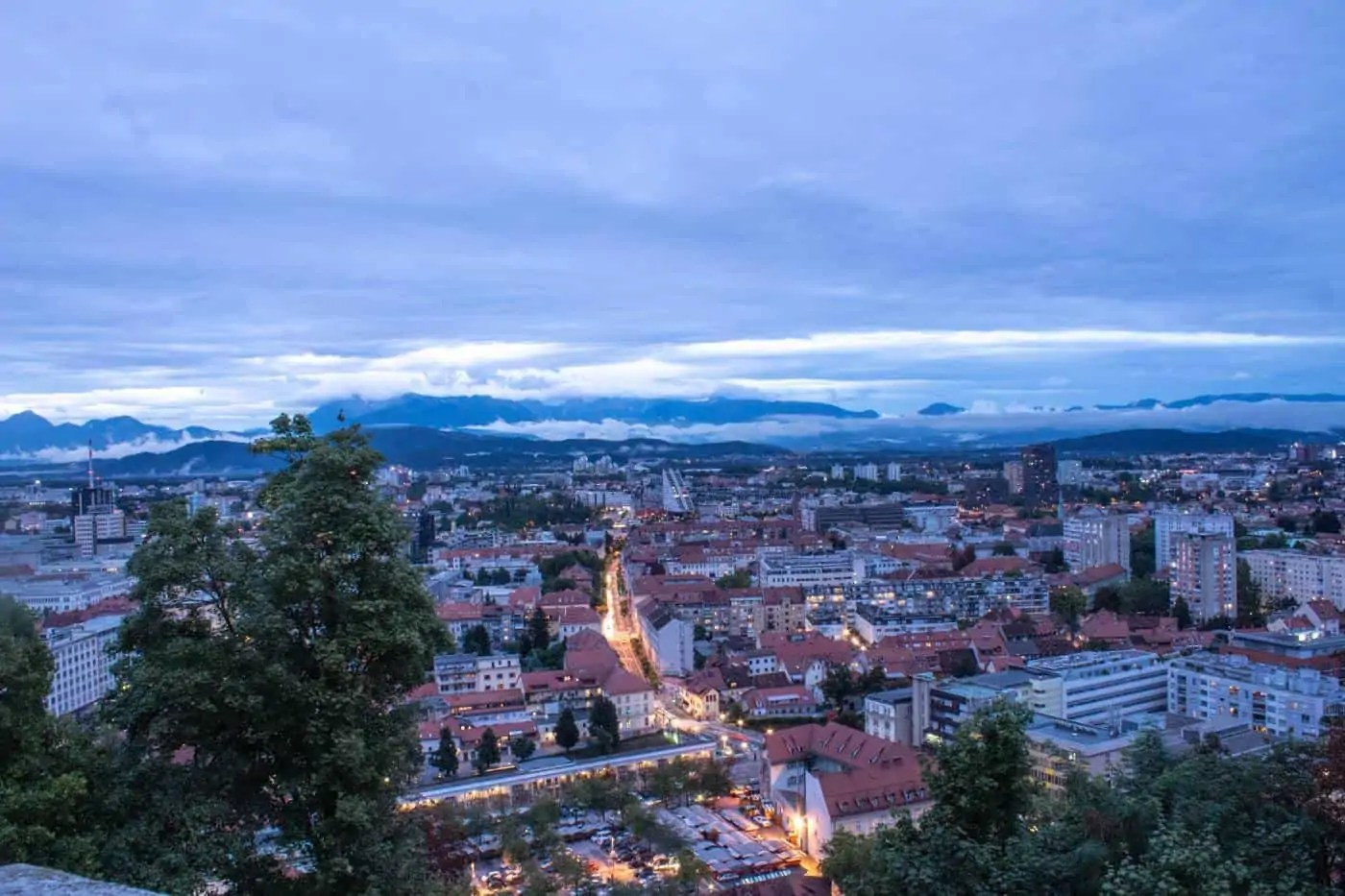 View of Ljubljana from the Castle