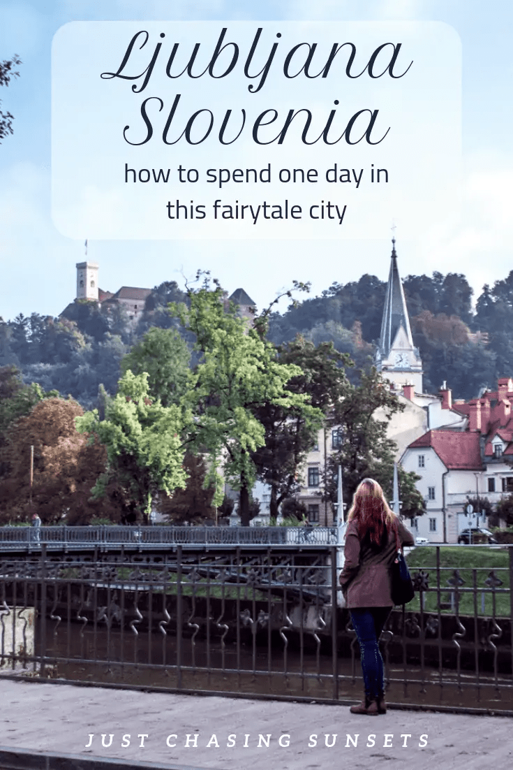 One day in Ljubljana Slovenia