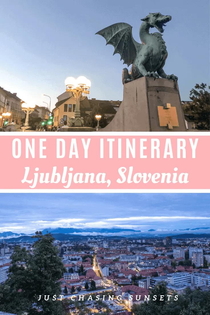 One day itinerary for Ljubljana, Slovenia