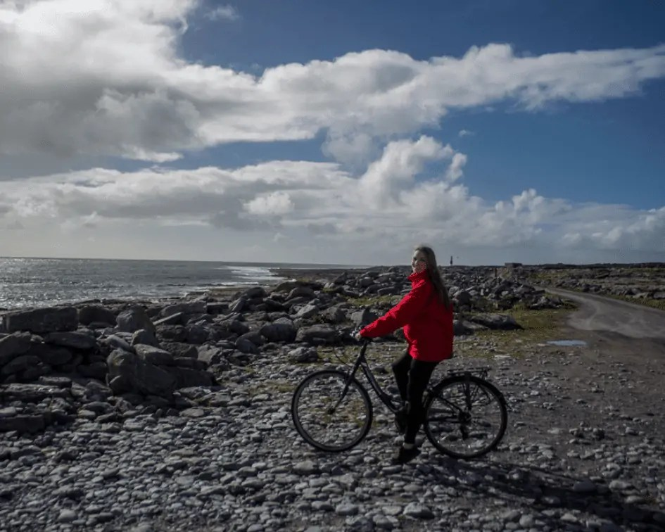 Getting in general activity with a bike ride on Inisheer Island, Ireland
