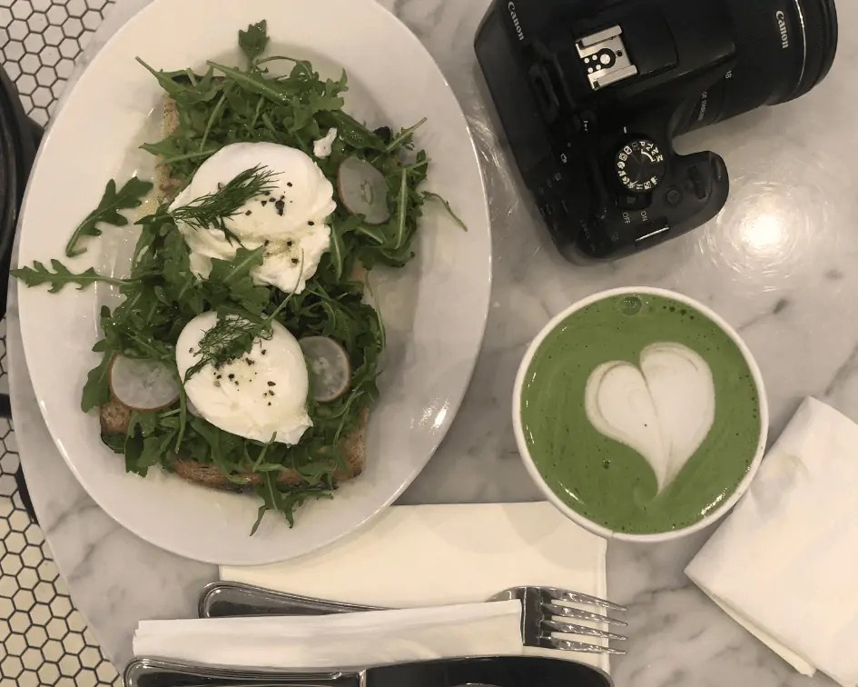 Avocado Tartine & Matcha from Tatte
