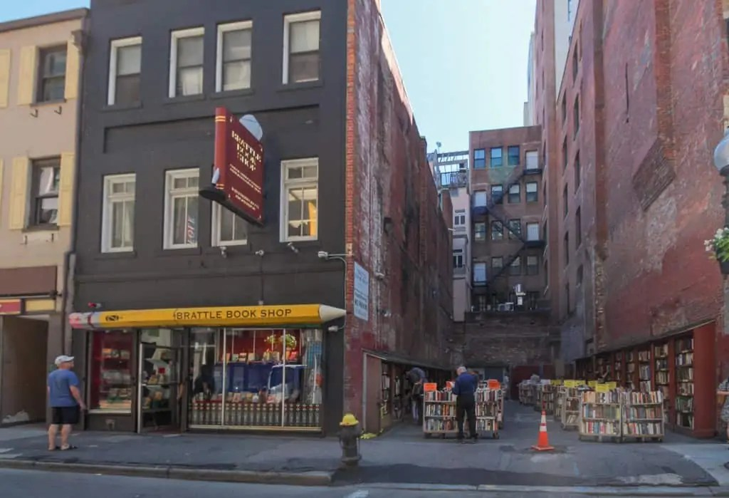 Visit Brattle Book Shop during your one day in Boston