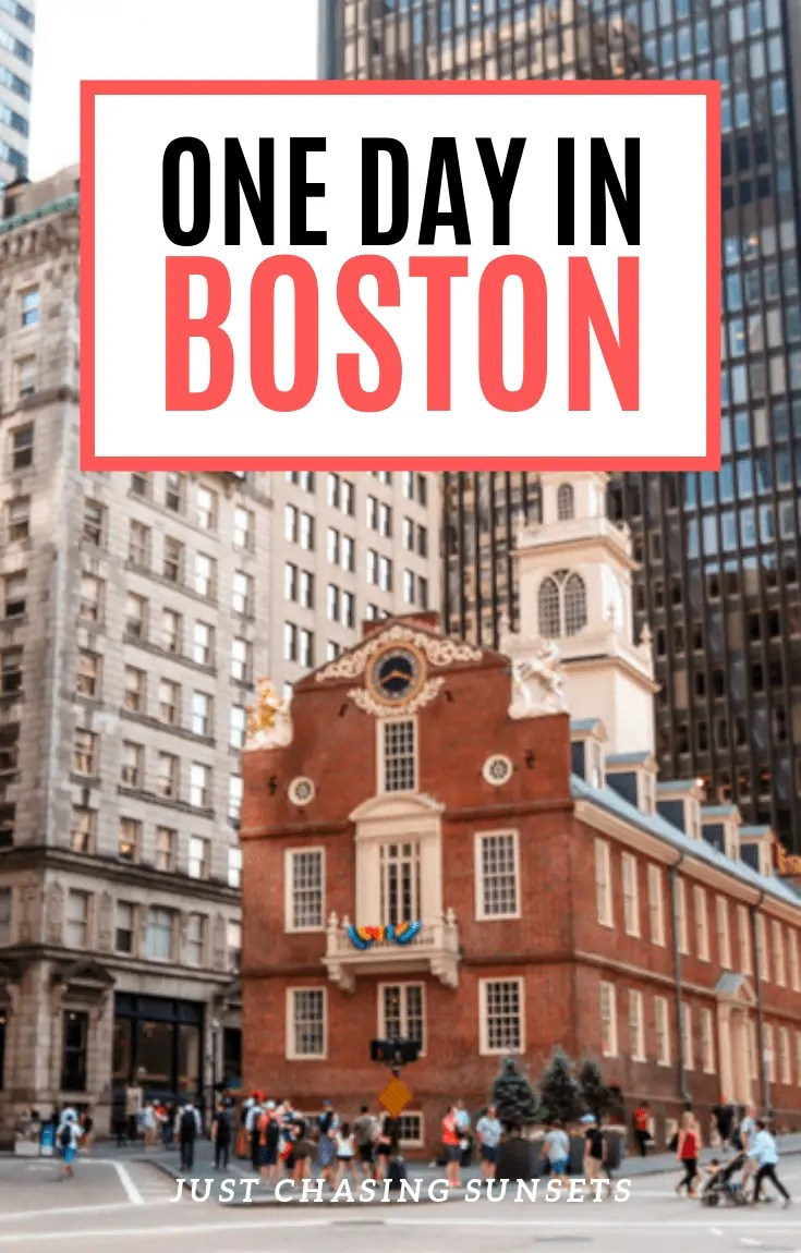 One day in Boston pin image.