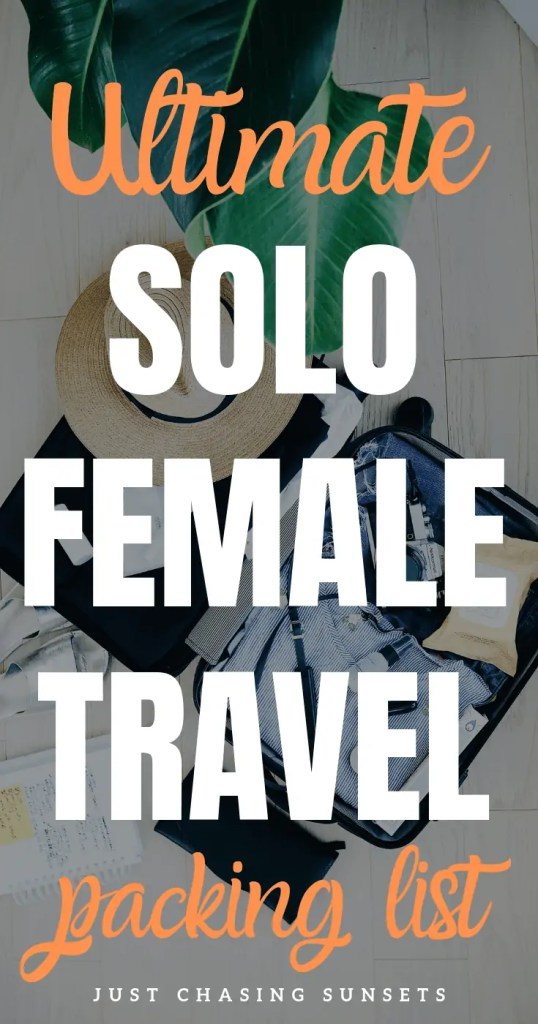 solo female travel packing list