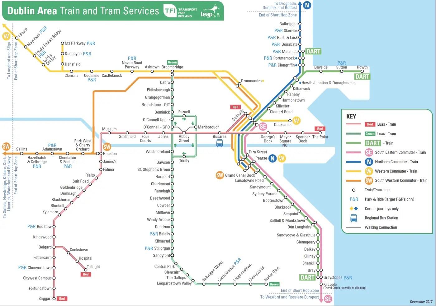 Dublin Area Transit Map
