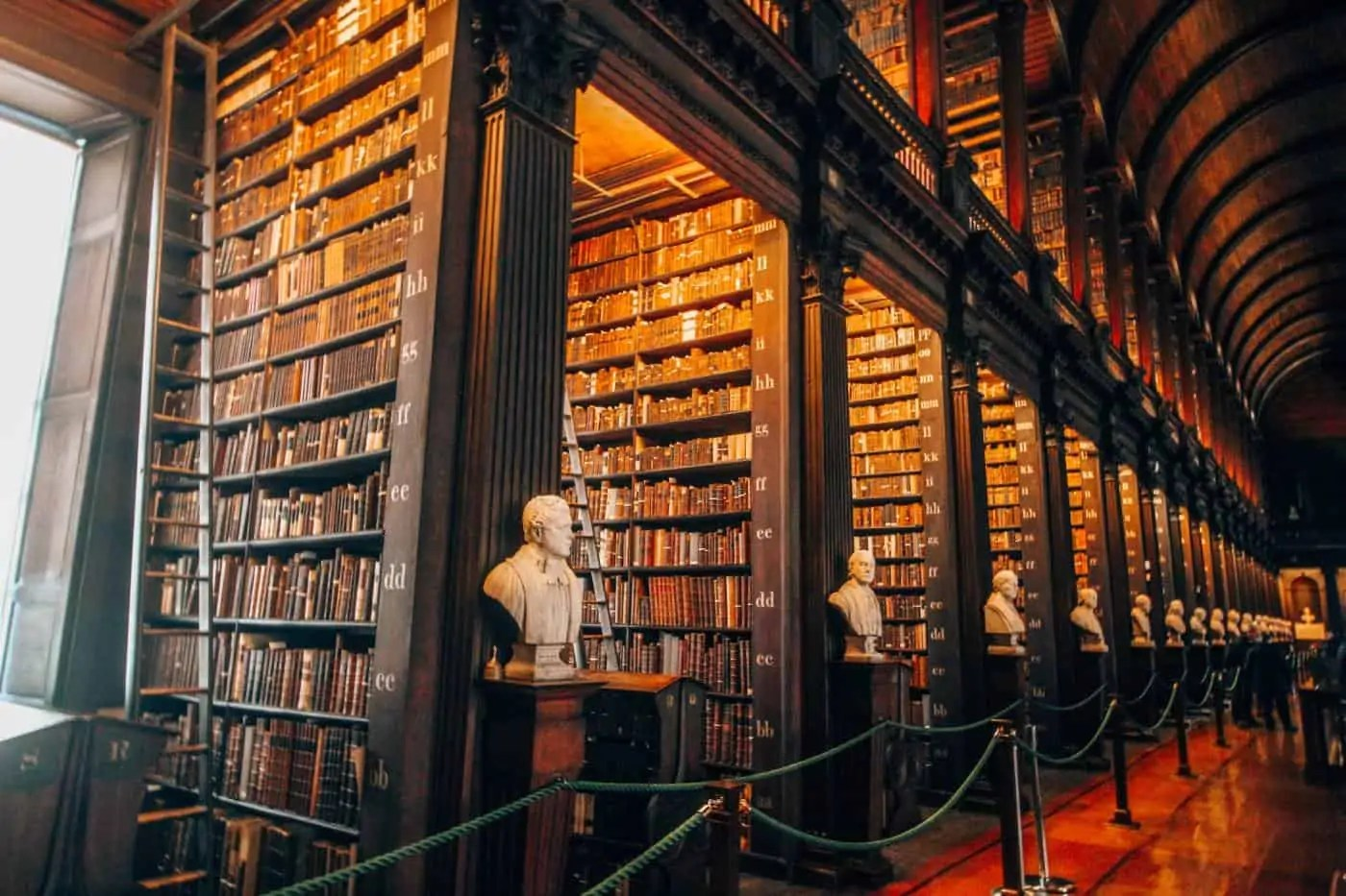 The Long Room of the Old Library in Trinity College, Dublin
