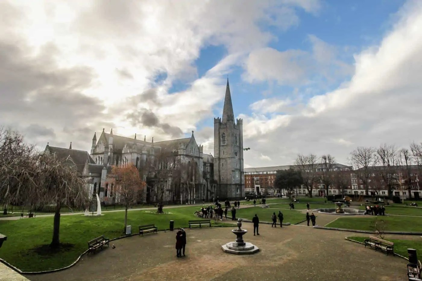 The grounds and view of St. Patrick's Cathedral