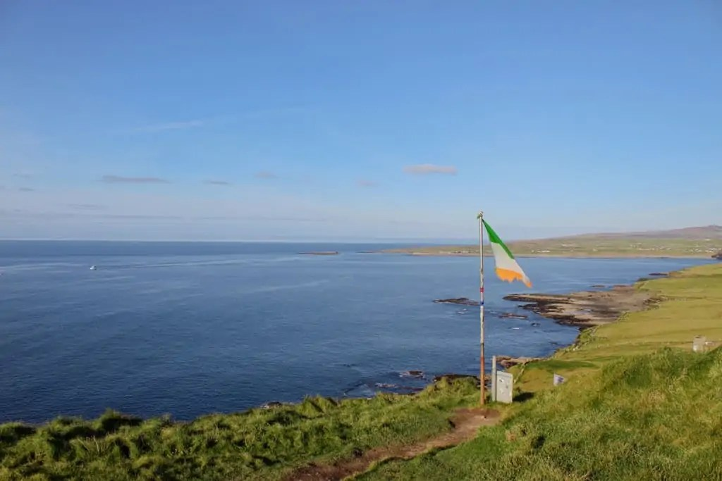 Irish flag over Doolin