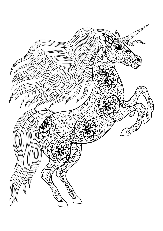 Unicorni 91010 Unicorni Colorear Para Adultos