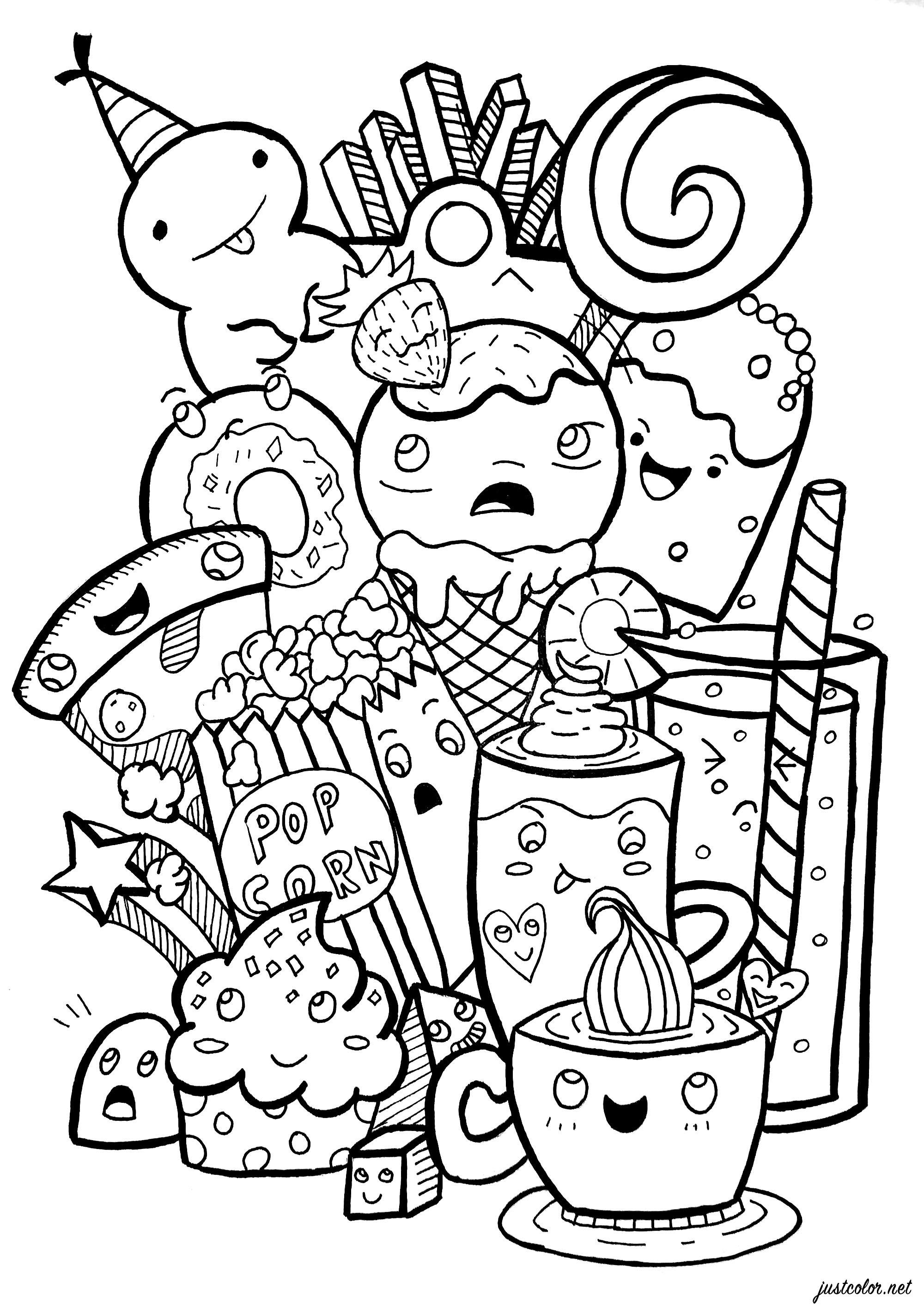 Doodle Junk Food