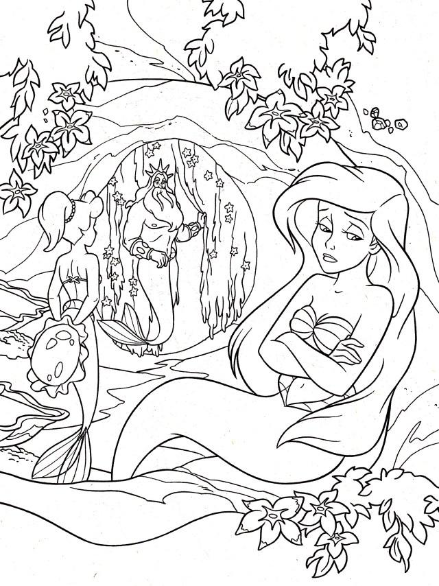 Ariel la petite sirene - Retour en enfance - Coloriages difficiles