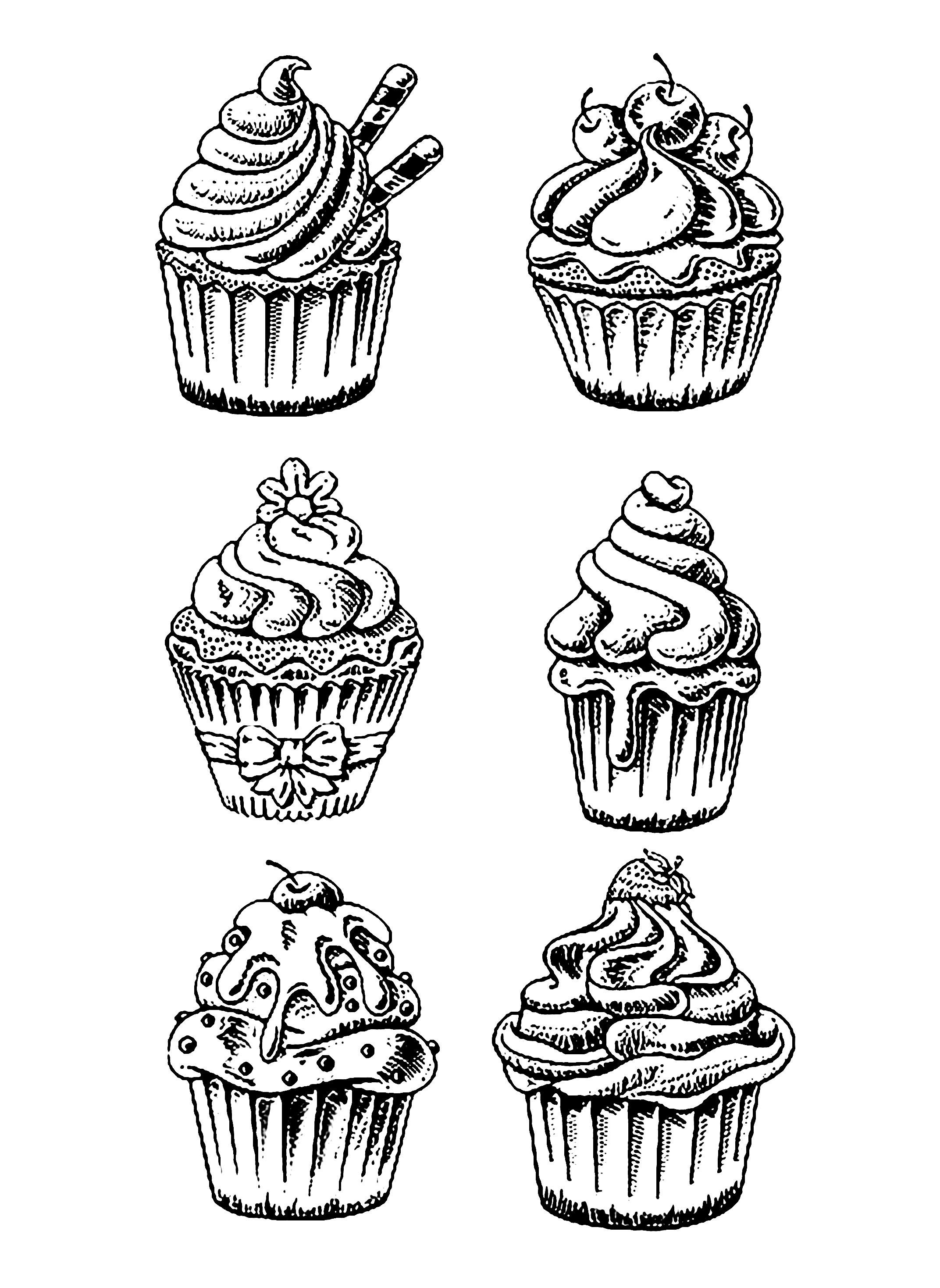 Cup Cakes 9623 Cup Cakes Disegni Da Colorare Per Adulti