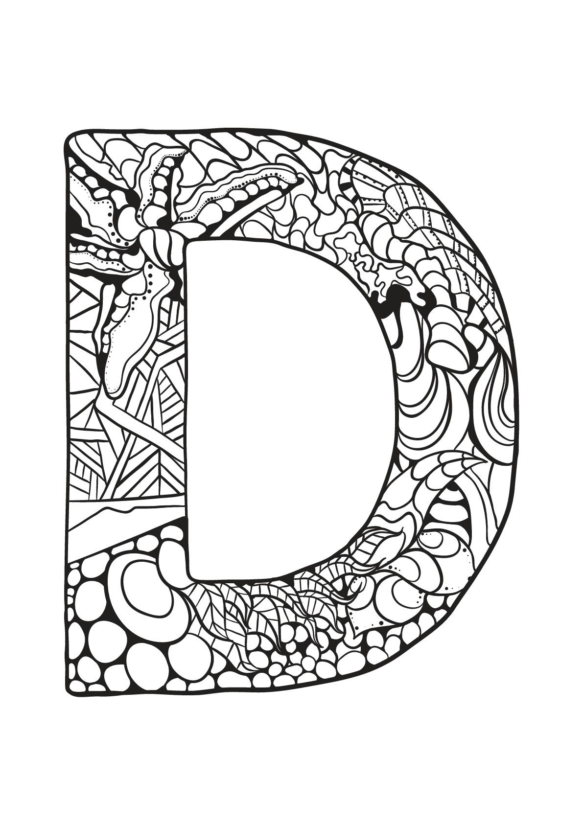 Alphabet To Print D