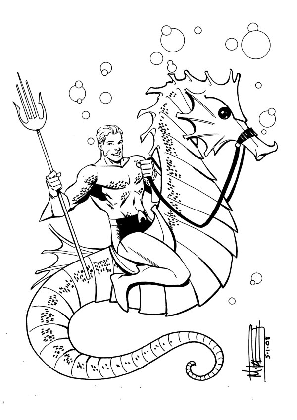aquaman coloring pages # 0