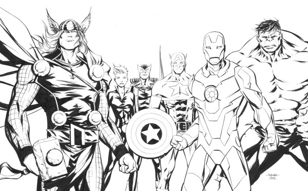 coloring pages avengers # 18