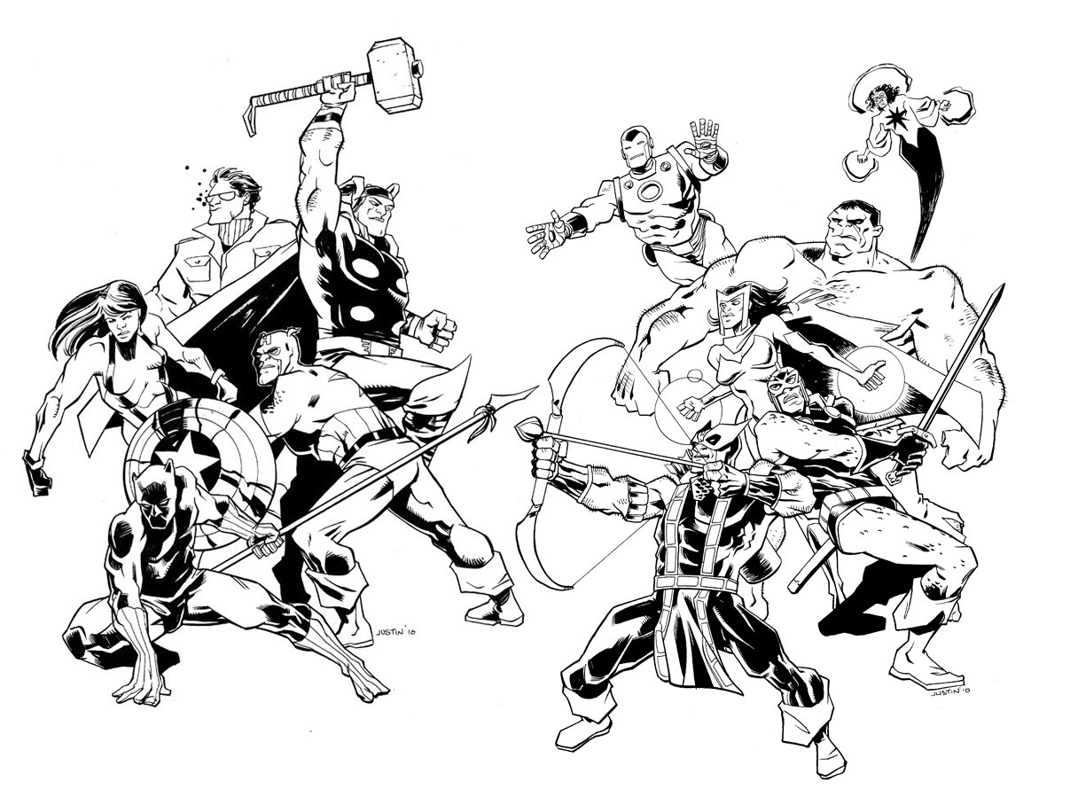 Avengers Free To Color For Kids