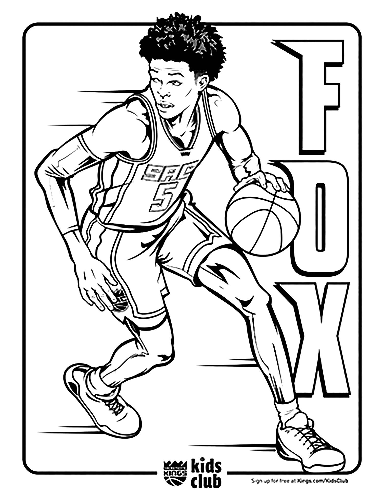 Basketball Free To Color For Children Basketball Kids Coloring Pages
