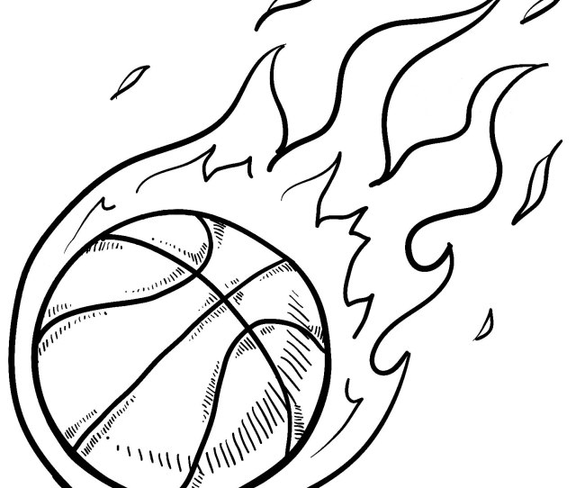 Basketball To Color For Kids Basketball Kids Coloring Pages