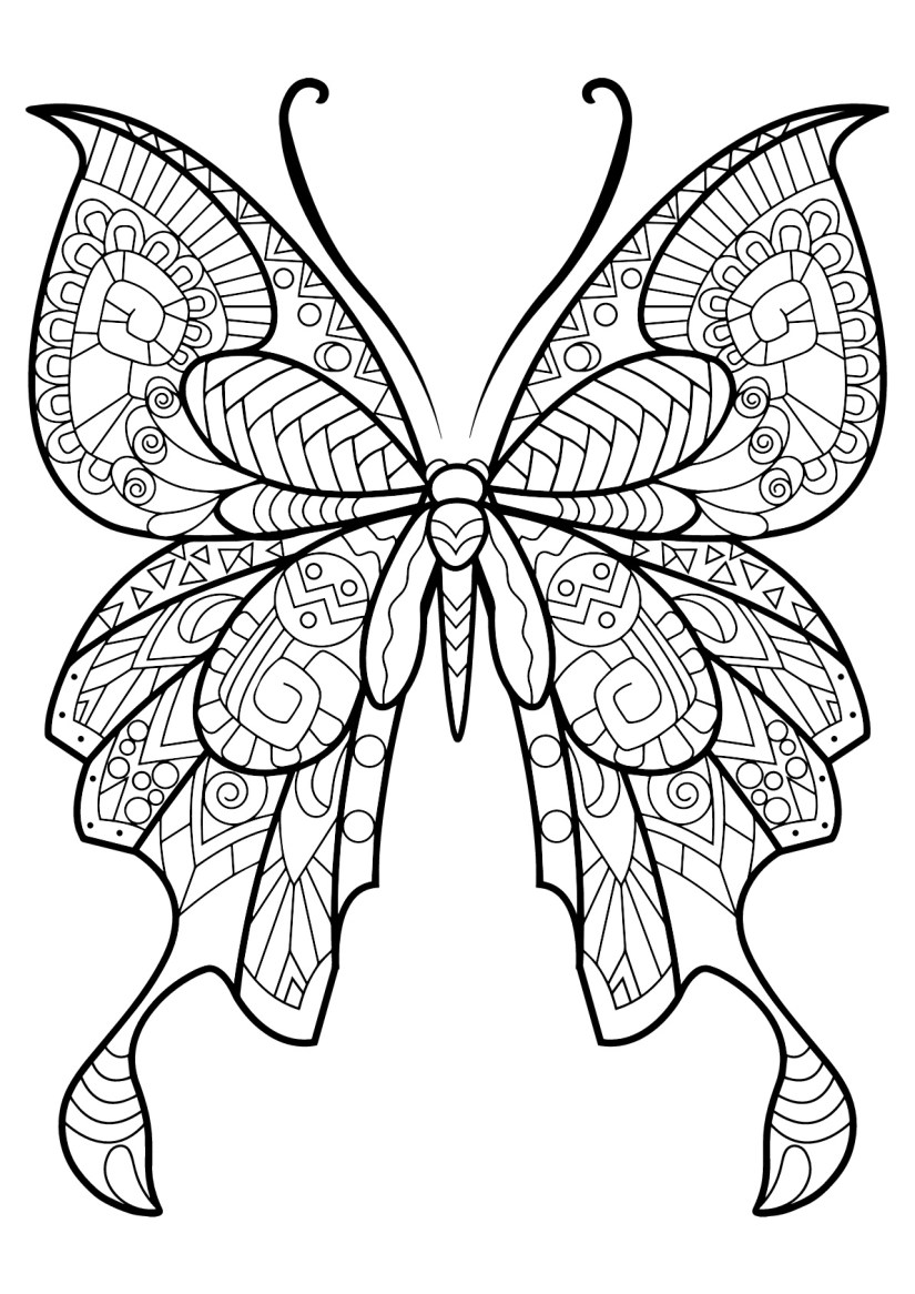 butterflies to color for kids - butterflies kids coloring pages