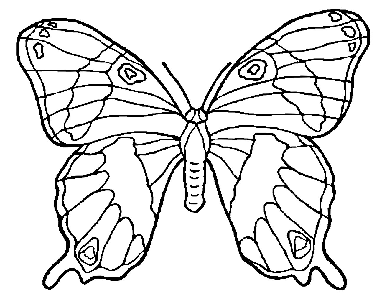 Butterflies To Color For Children