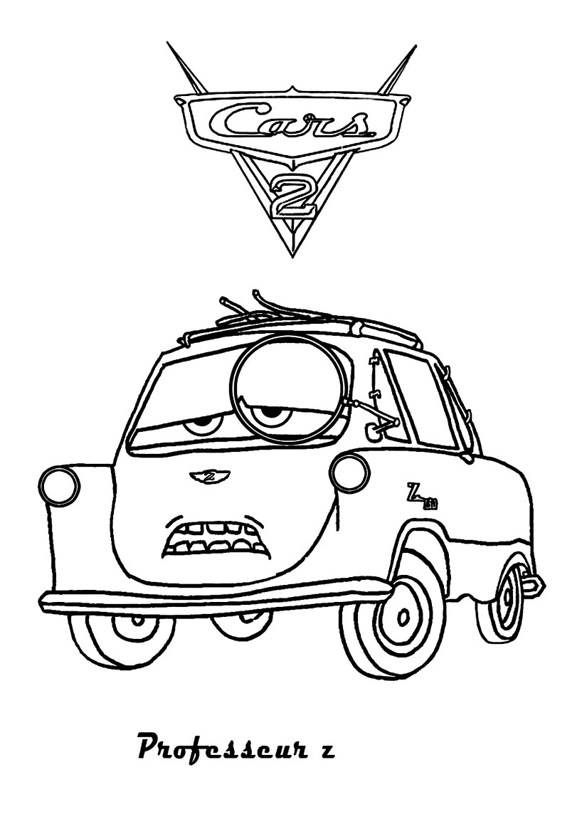 Cars 2 to color for kids - Cars 2 Kids Coloring Pages   free printable disney cars 2 coloring pages
