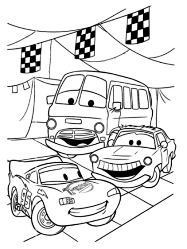 coloring page car # 83