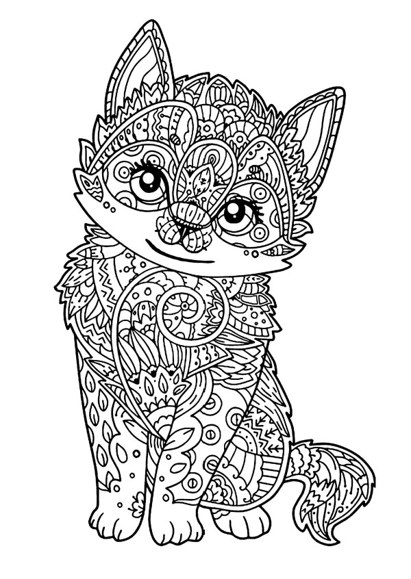 free cat coloring pages # 3