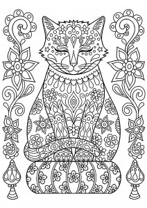 free cat coloring pages # 17