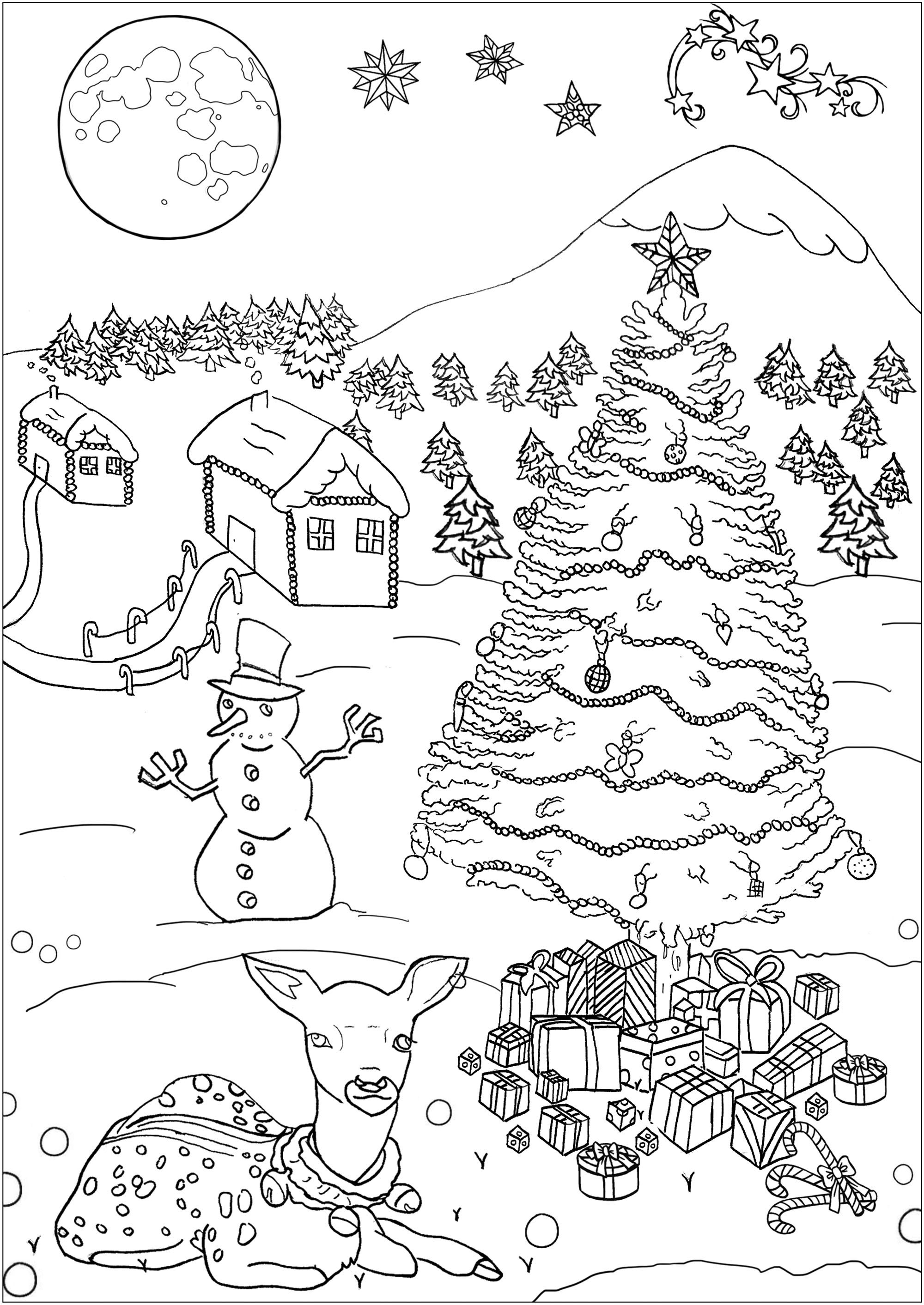 Christmas Free To Color For Children Christmas Kids Coloring Pages