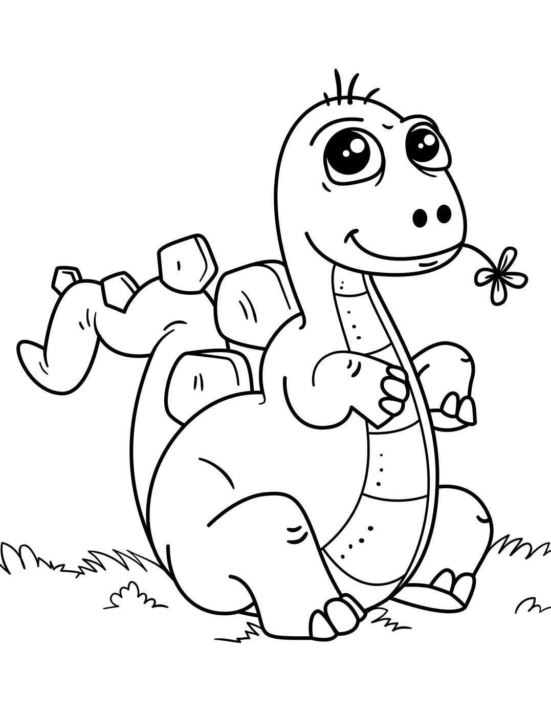 Dinosaurs To Color For Kids Ba