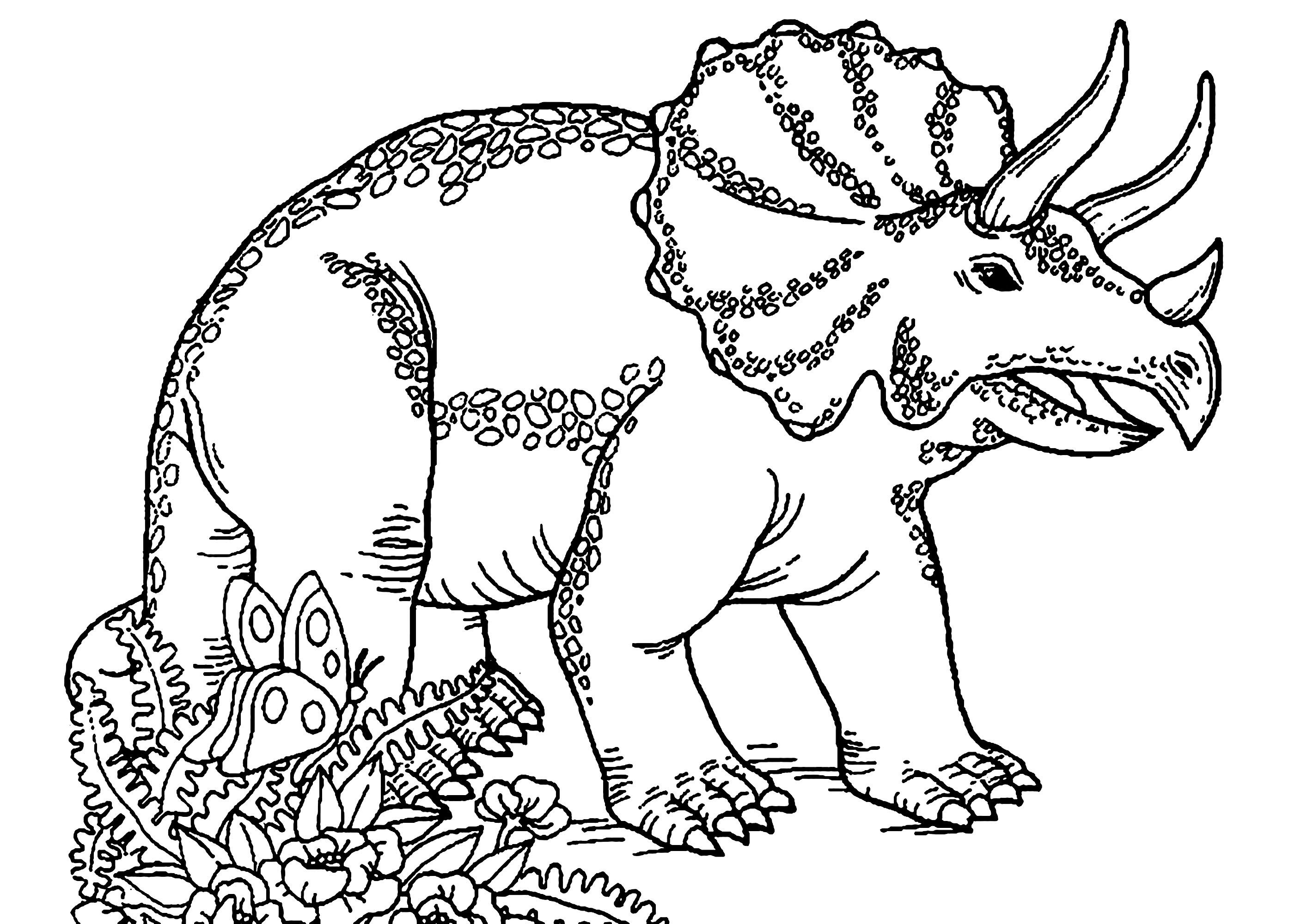 Dinosaurs To Print Triceratops