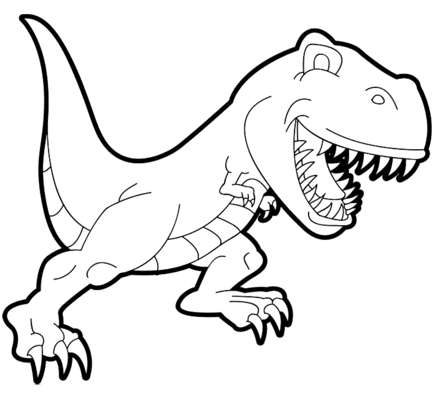 Dinosaurs Free To Color For Kids Tyrannosaur Rex Cartoon